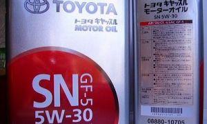 Масло Toyota 5w30 и его характеристики