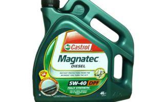 Обзор масла Castrol Магнатек 5w40 для дизеля