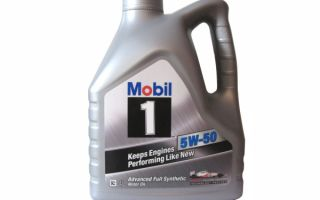 Обзор моторного масла Mobil 1 5w-50