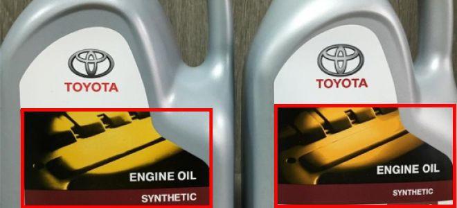 Все о подделке масла Toyota 5W40