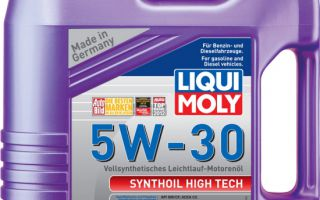 Обзор синтетического масла Liqui Moly 5w30