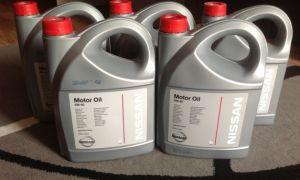 Характеристики моторного масла Nissan 5w40