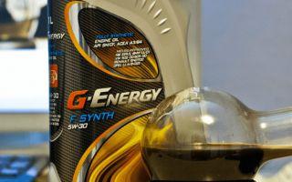 Обзор масла линейки G-Energy 5w-30