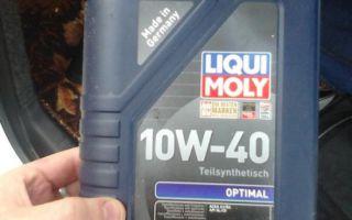Полусинтетическое масло Liqui Moly 10w-40