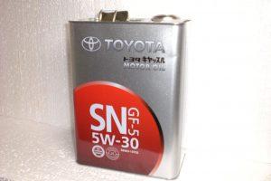 Масло Toyota 5w-30 SN