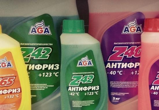 Антифриз Aga зеленого цвета