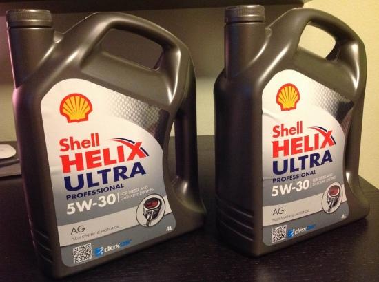 Лицевая сторона Shell Helix Ultra