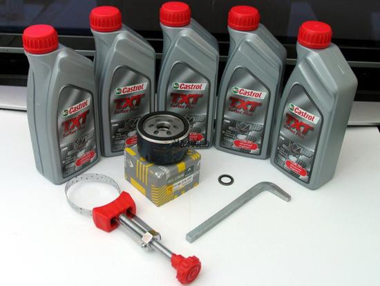 инструменты для замены моторного масла
