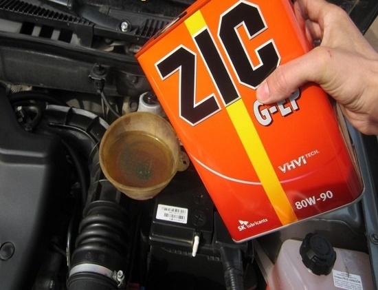 Замена масла в КПП 2109