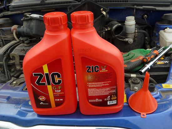 Характеристики масла ZIC 75w-90